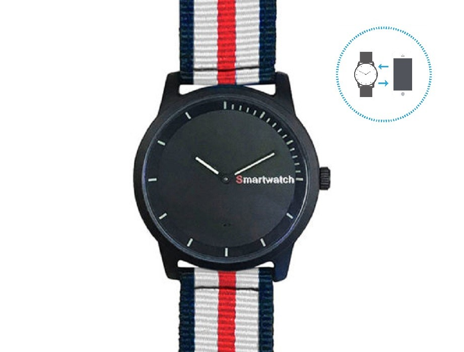 mim Hybrid Smart Watch (Red)