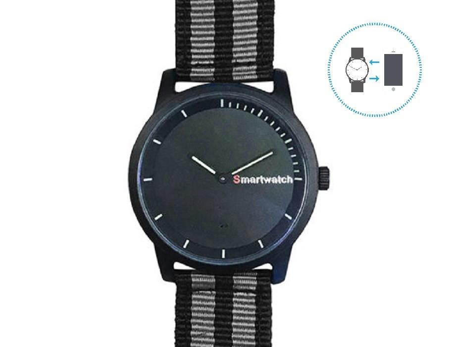 mim Hybrid Smart Watch (Grey-Black)